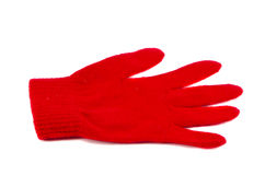 Isolated one red glove Stock Photos