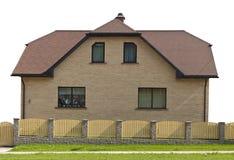 Isolated one-story house Stock Photo