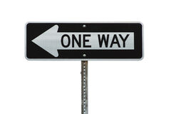 Isolated one way sign Royalty Free Stock Photography