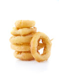 Isolated onion rings Royalty Free Stock Image