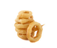 Isolated onion rings Stock Photos