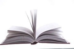 Isolated open book Stock Images