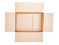 Isolated Open Carton Box Stock Images