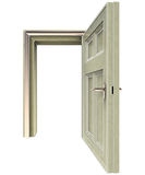 Isolated open doorway front view Royalty Free Stock Photo