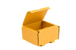 Isolated open and empty cardboard box Stock Image