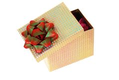 Isolated Open Gift Box Stock Images