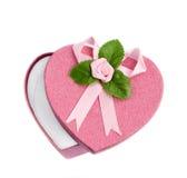 Isolated open heart shaped gift box Royalty Free Stock Photos