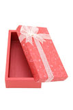 Isolated open red holiday gift box Royalty Free Stock Photography