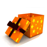 Isolated opened gift box Stock Image