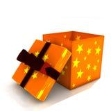 Isolated opened gift box stock image