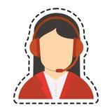 Isolated operator woman design Stock Photo
