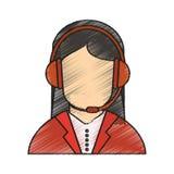 Isolated operator woman design Stock Photos