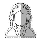Isolated operator woman design Stock Image
