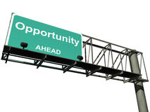 Isolated Opportunity Highway Sign Royalty Free Stock Images