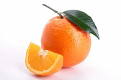Isolated orange Royalty Free Stock Photos