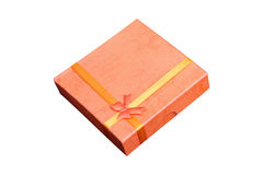 Isolated orange box present Royalty Free Stock Photography