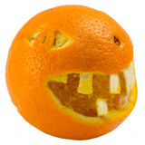 Isolated orange decorate like in helloween Royalty Free Stock Photos