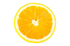 Isolated orange fruit half Stock Image
