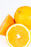 Isolated orange fruit half Stock Photo