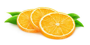 Isolated orange fruit slices Stock Photos