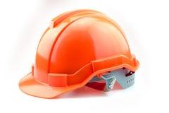 Isolated Orange Helmet for Builder Stock Photography