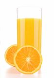 Isolated orange juice Stock Image