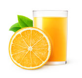 Isolated orange juice Royalty Free Stock Photo