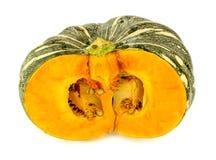 Isolated orange kent pumpkin Stock Images