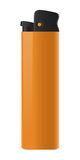 Isolated orange lighter. Isolated orange plastic lighter, clip-art, illustration, vivid Stock Photography