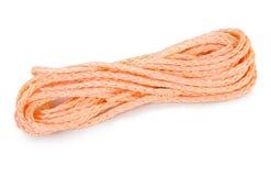 Isolated orange rope royalty free stock photo