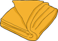 Isolated Orange Towel Stock Images