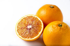 Isolated oranges Stock Image