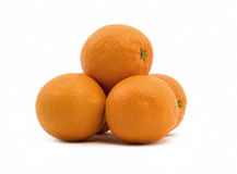 Isolated Oranges Royalty Free Stock Photos