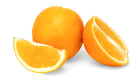 Isolated Oranges on a White Background Stock Images
