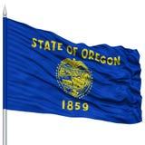 Isolated Oregon Flag on Flagpole, USA state Royalty Free Stock Photography
