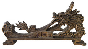 Isolated oriental dragon sculpture Royalty Free Stock Photo