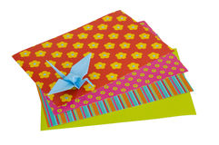 Isolated Origami Crane Royalty Free Stock Photography