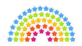 Isolated origami rainbow. Stars on a white background Royalty Free Stock Photo