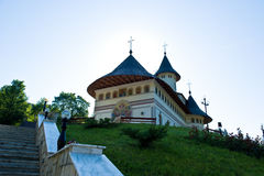 Traditional Romanian monastery building Stock Photo