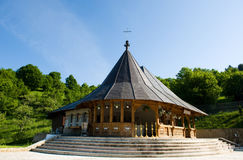Wooden chapel near the forest Stock Photography