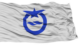 Isolated Otsu Flag, Capital of Japan Prefecture, Waving on White Background Stock Photos