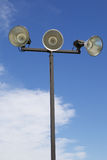 Isolated Outdoor Athletic Court Lights Stock Photos
