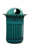 Isolated Outdoor bin in green color Royalty Free Stock Images