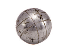 Isolated outdoor game old metallic ball Stock Image