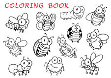 Isolated outline insect animals characters Stock Images