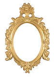 Isolated oval bronze frame Stock Photo
