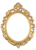 Isolated oval bronze frame Royalty Free Stock Photography