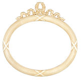 Isolated oval mirror frame Royalty Free Stock Image