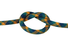 Isolated overhand knot Royalty Free Stock Image