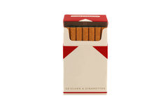 Isolated Pack Of Cigarettes On A White Background Royalty Free Stock Photos